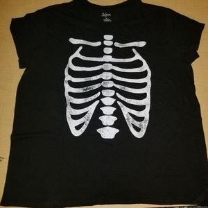 City Streets Graphic Skeleton Ribs Plus Size Top